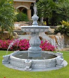 Water fountains front yard and backyard designs gardens for Front yard fountains