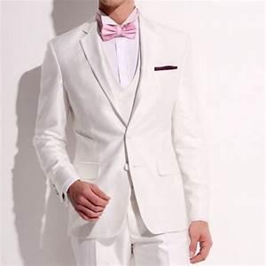 Costume Homme Mariage Blanc : achat costume homme italien blanc brillant ~ Farleysfitness.com Idées de Décoration