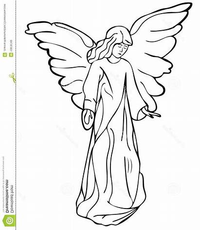 Angel Drawing Drawings Garden Wings Clipart Fairy