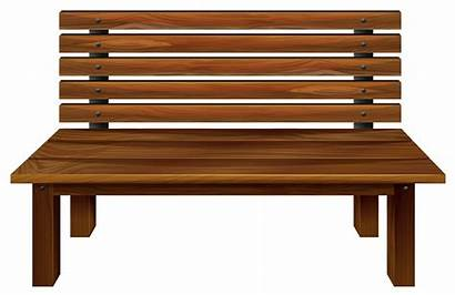Bench Clipart Wooden Madeira Banco Holzbank Bois