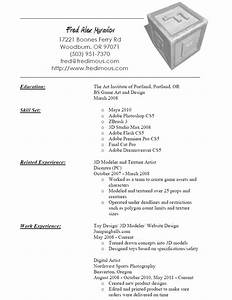 3d modeler and texture artist resume sample With 3d modeling resume sample