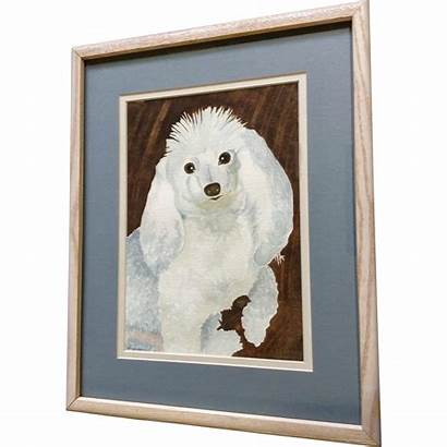 Poodle Watercolor Painting Dog Signed Gumgumfuninthesun Ruby