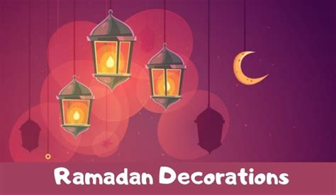traditional ramadan decorations ideas  home