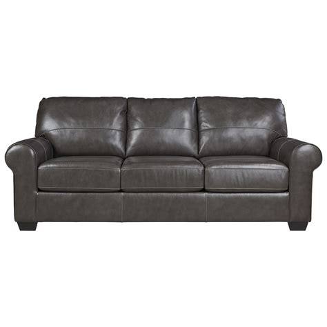 leather sleeper sofa queen signature design by ashley canterelli 9800339 leather