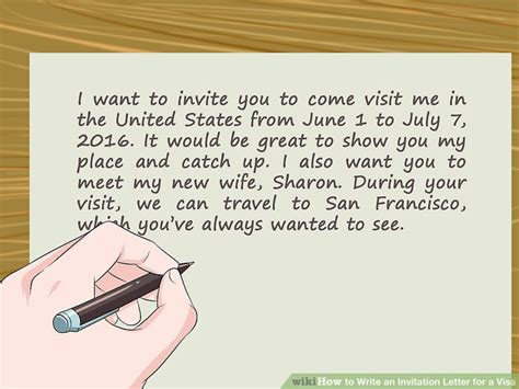 how to write an invitation letter how to write an invitation letter for a visa 14 steps 53194
