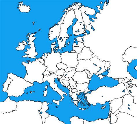Web - blank map of western europe - Find.Kiwi
