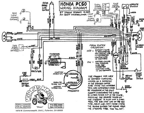 Honda 50 Wire Diagram by Wiring 171 Myrons Mopeds