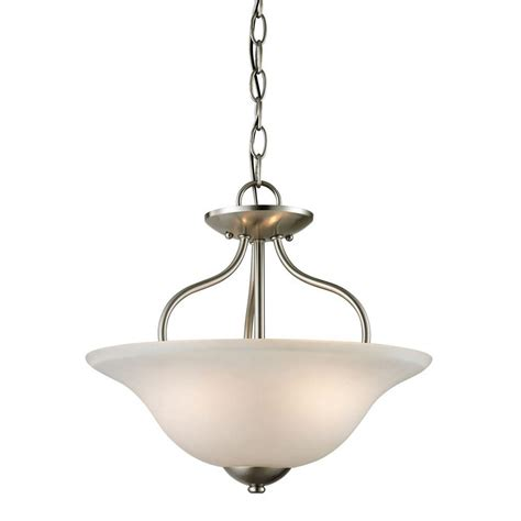 titan lighting conway 2 light brushed nickel ceiling semi