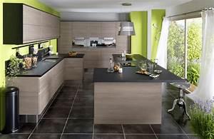 cuisine en bois un materiau plusieurs styles With idee deco cuisine avec cuisine Équipée contemporaine