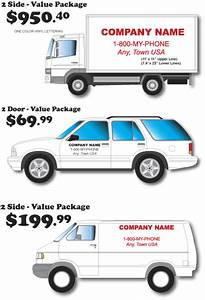 Vehicle lettering fleet graphics arizona sign shop for Truck lettering cost