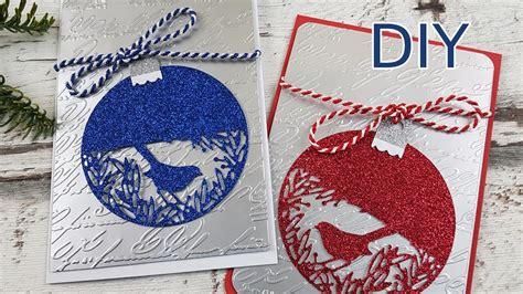 anleitung edle weihnachtskarten einfach schnell selber basteln diy cardmaking tutorial in