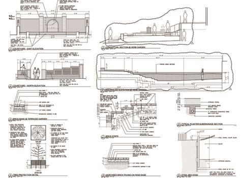 landscape detail drawings landscape construction drawings