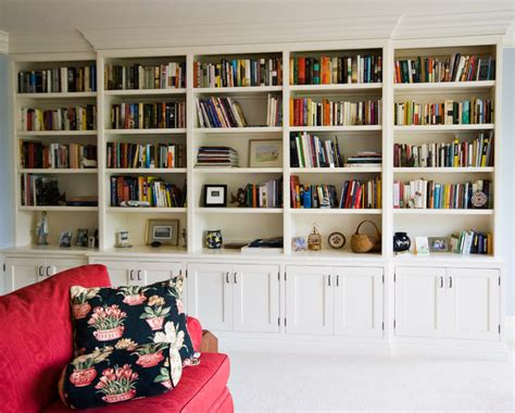 wall to wall bookcases painted bookcase traditional home office charleston