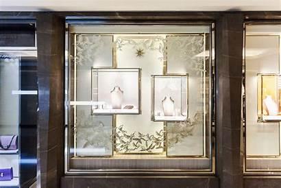 Window Display Bridal Kojima Nahoko Paper Bvlgari