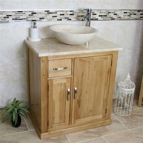 bathroom vanity unit  standing oak cabinet wash stand