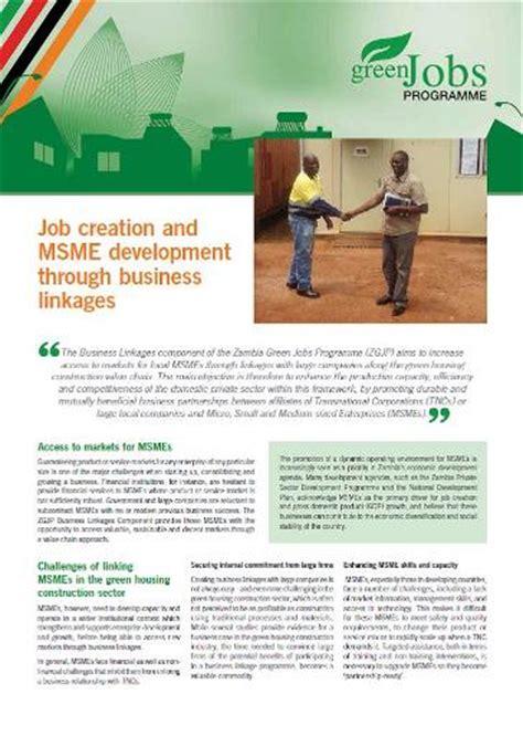 job creation  msme development  business linkages