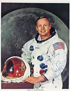 Neil Armstrong Signed Baseball - Pics about space