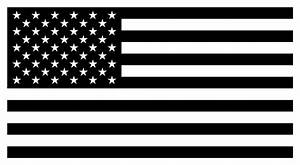 American Flag - Black And White Version Digital Art by War