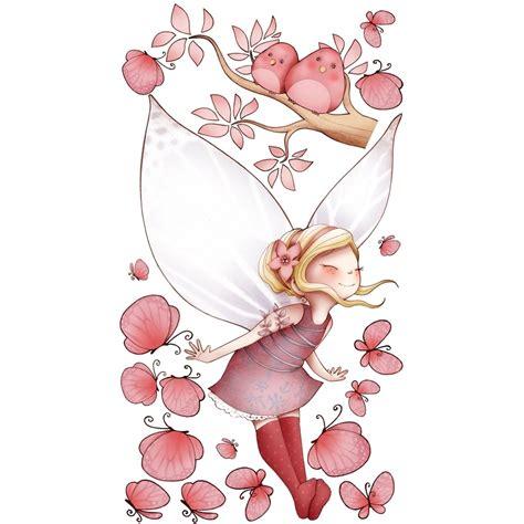 stickers chambre fille feerique sticker enfant fée volante et papillons acte déco