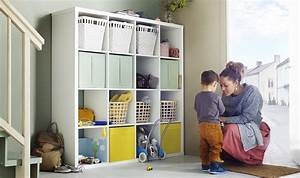 etageres ikea kallax en 55 idees de rangement pratiques With meuble jouet ikea