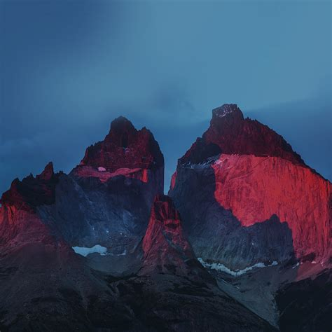 yosemite mountain red blue nature cold apple wallpaper