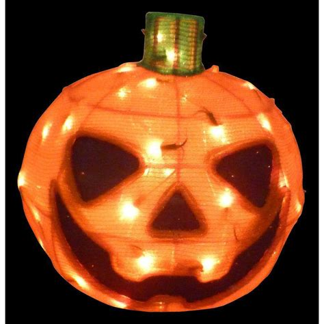 huge 15 quot lighted crystal tinsel orange pumpkin halloween