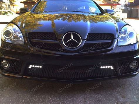 mercedes led lights running daytime drl class light shape kit benz w212 driving mb