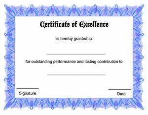 blank certificate templates kiddo shelter With free award certificate templates for students