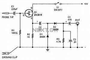 gt sens detectors gt rf radiation gt rf probe l13637 nextgr With rf detector circuit schematic