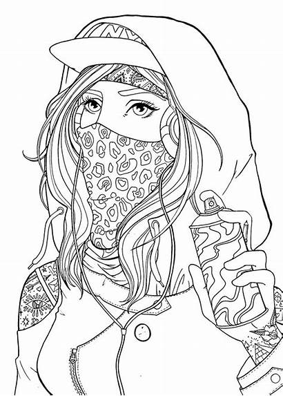 Coloring Pages Graffiti Adult Bad Drawing Colouring