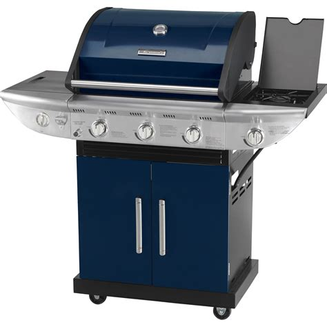 kenmore 3 burner gas grill with side burner blue