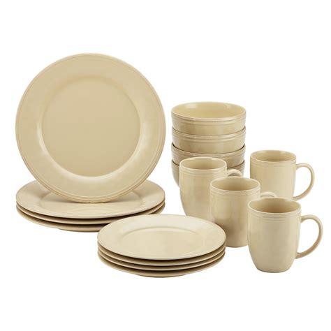 cucina pc stoneware dinnerware set cream power sales