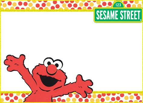 printable elmo invitation templates invitations