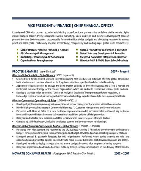 finance resume templates sample templates