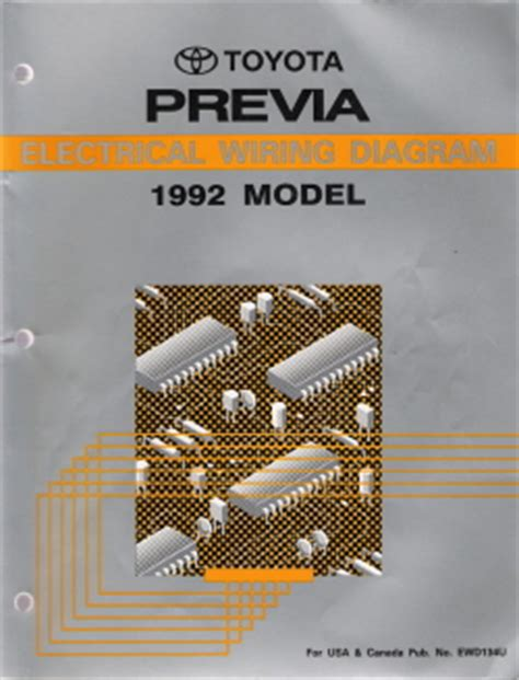 Toyota Previa Factory Electrical Wiring Diagram
