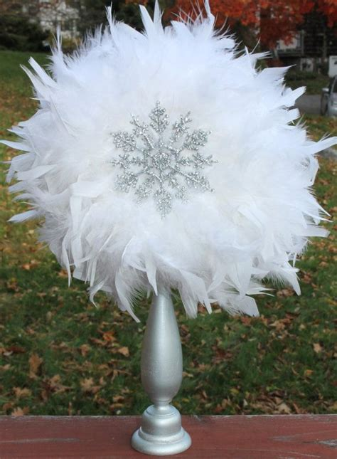 feather centerpiece  party decoration