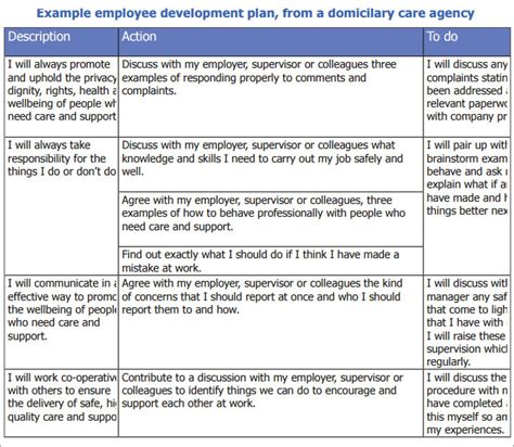 employee development plan template employee development plan template free premium templates