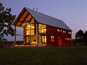 Pole Barn House Plans Houzz, Barn and Porch