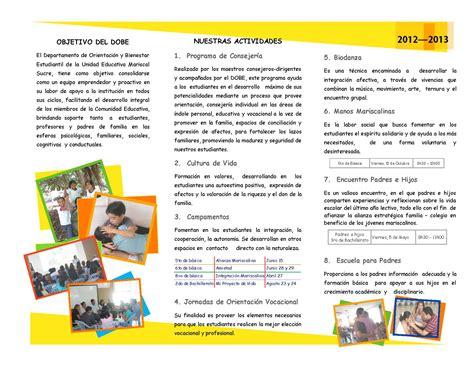 tripticos prevencion drogas en el trabajo by unidad educativa mariscal sucre