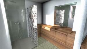 Plan 3d Salle De Bain : plan salle de bain dj extension ~ Melissatoandfro.com Idées de Décoration