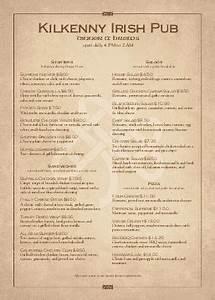 a4 menus a 4 menu templates musthavemenus With irish menu templates