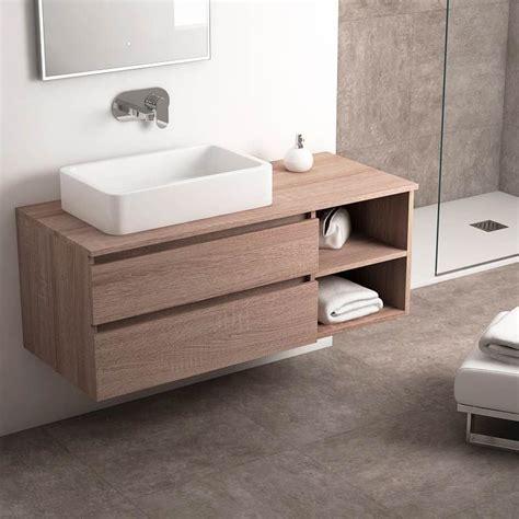 meuble salle de bain ch 234 ne fonc 233 120 cm 2 tiroirs terra