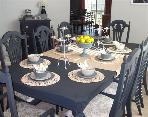 navy blue kitchen table set navy dining set for the home painted dining room table