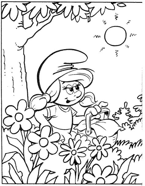 smurfs characters coloring pages getcoloringpagescom