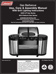 Coleman 5600 Users Manual  U0026 5610 Series Lp Gas Grill