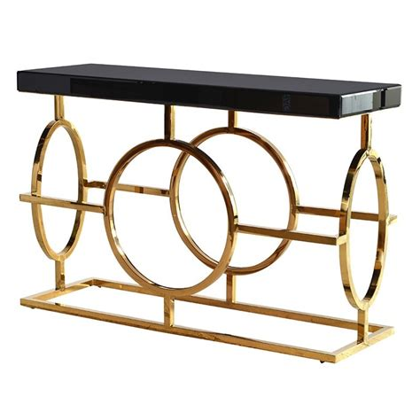 black and gold table l holywood black and gold steel frame console table