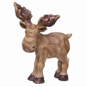 Shop 15-in H Moose Design Garden Statue at Lowes com