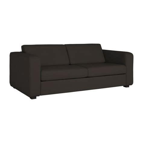 canapé lit en cuir porto 3 canapé lit 3 places en cuir habitat