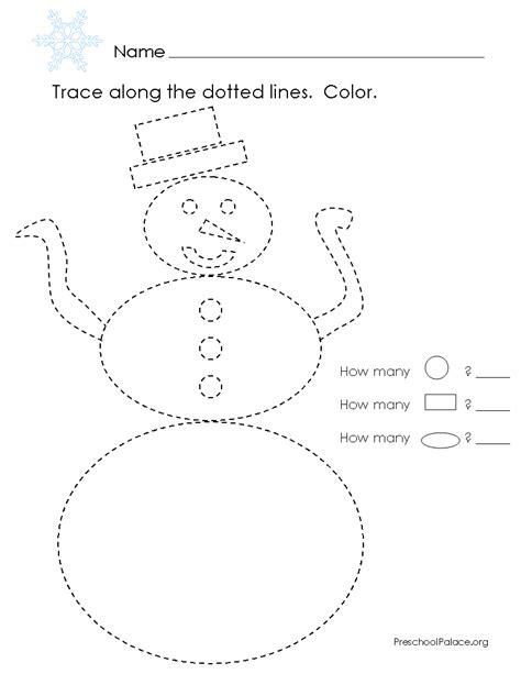 preschool palace snowman shapes  images winter