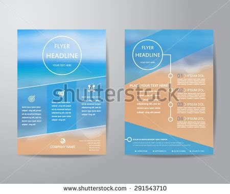 Simple Triangle And Circle Brochure Flyer Design Layout Business Brochure Flyer Design Layout Template Stock